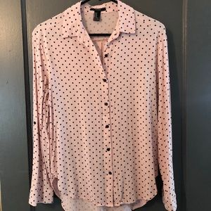 Forever 21 • Pink Heart blouse
